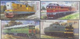 Ukraine 1042-1045 (complete Issue) Unmounted Mint / Never Hinged 2009 Locomotives - Ukraine