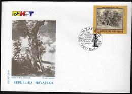 Croatia Zagreb 1993 / 150 Anniversary Of Birth Of Croatian Painter Adolf Ignja Waldinger / Old Oak / FDC - Croatie