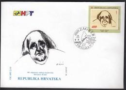 Croatia Zagreb 1993 / Miroslav Krleza / Croatian Writer / FDC - Croatia