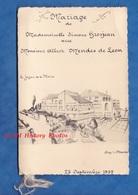 Menu Ancien - BRY Sur MARNE - Mariage Simone GROSJEAN Avec Albert MENDES De LEON - 23 Septembre 1957 - Menus
