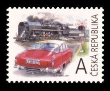 Czech Republic 2017 Mih. 948 Retro Transportation. Vintage Car Tatra. Vintage Locomotive MNH ** - Tchéquie