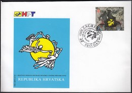 Croatia Zagreb 1993 / 1st Anniversary Croatia In The UPU / Post / Cycling / FDC - Croatie