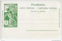 85 - 78 - Entier Postal Neuf  5cts UPU 1900 - Postwaardestukken