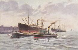 Carte Postale, Postcard, Painting, G Zimmerman , Marine Scene (pk57393) - Schilderijen