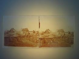 Plaque En Verre Positif , Guerre 14/18 - ABLAIN BARRICADE BOCHE - Plaques De Verre