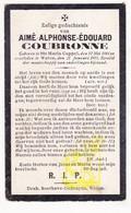 DP Im. Mort. - Aimé Alph. Coubronne ° Sainte-Marie-Cappel FR Nord 1845 † Watou Poperinge BE 1905 - Images Religieuses