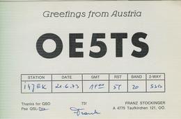 AUSTRIA -Taufkirchen  - RADIO AMATORIALE- 21 GIUGNO 1973 - - Radio Amateur