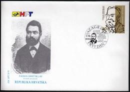 Croatia Zagreb 1993 / Tadija Smiciklas / Croatian Historian / FDC - Croatie