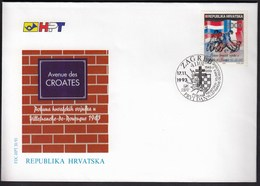 Croatia Zagreb 1993 / The Revolt Of Croatian Soldiers In Villefranche-de-Rouergue / FDC - Croatie