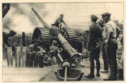 Beau Document D'époque Pièce Lourde D'artillerie Anglaise 1916 - 1914-18