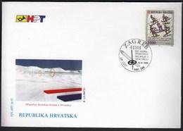 Croatia Zagreb 1993 / 100 Years Of Sport Skiing In Croatia / Sport / FDC - Croatie