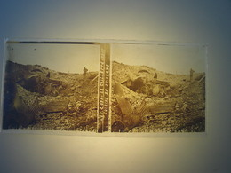 Plaque En Verre Positif , Guerre 14/18 - LA CAILLETTE 1917 - CUISINE EN 1ere LIGNE - Plaques De Verre