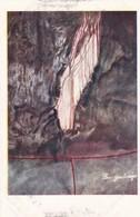 LA CORTINA TRASPARENTE. R.R. GROTTE DI POSTUMIA (GIA ADELSBERG). FOTO M CAPELLI. SAI. CPA CIRCA 1930s - BLEUP - Slovenia