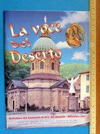 LA VOCE DEL DESERTO SANTUARIO DEL DESERTO MILLESIMO OPUSCOLO - Religion & Esotérisme