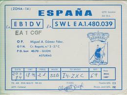 SPAGNA - Gijón - RADIO AMATORIALE- 29 APRILE 1984 - - Radio Amatoriale
