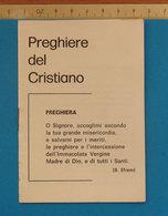PREGHIERE DEL CRISTIANO - Religion & Esotérisme