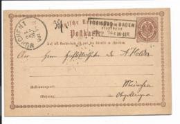 DR P 2 - 2 Kr Adler M. Kasten-Stpl. Freiburg In Baden Stadtpost 1874  Nach München  Bedarfsverwendet - Germany