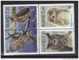Aland 1996 N°109/112 Neufs Oiseaux Hibou Le Grand Duc - Ålandinseln