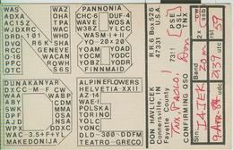 Connersville, Indiana (U.S.A.). - RADIO AMATORIALE- 9 APRILE 1987 - - Radio Amatoriale