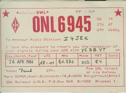 BRUXELLES - BRUSSEL. - RADIO AMATORIALE- 26 APRILE 1984 - - Radio Amateur