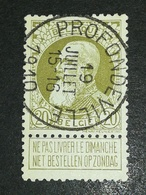 COB N ° 75 Oblitération Profondeville 1910 - 1905 Grosse Barbe
