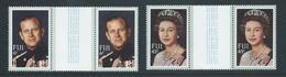 Fiji 1982 QEII Royal Visit Set Of 2 Gutter Pairs MNH - Fidji (1970-...)