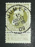 COB N ° 75 Oblitération Jumet 09 - 1905 Grosse Barbe