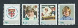 Fiji 1982 Princess Diana Birthday Set 4 MNH - Fiji (1970-...)