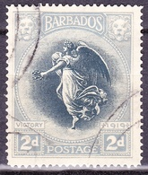 BARBADOS 1920 2d Black & Grey SG204 Fine Used - Barbados (...-1966)