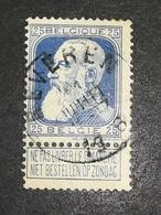 COB N ° 76 Oblitération Beveren 1906 - 1905 Grosse Barbe