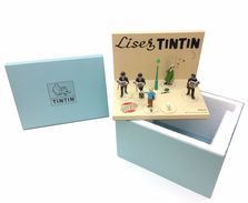SOCLE DIORAMA PRESENTOIR POUR FIGURINES PIXI LISEZ TINTIN - Figurines