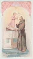 SANTINO - IMAGE PIEUSE - DEVOTIONAL IMAGES SANT' ANTONIO DI PADOVA (ACQUISTO MINIMO 4 SANTINI) - Imágenes Religiosas