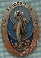 USSR / Badge / Soviet Union / UKRAINE / Odessa. Skates Skating Trade Union Prizes Fauna. Dolphin 1982 - Patinage Artistique