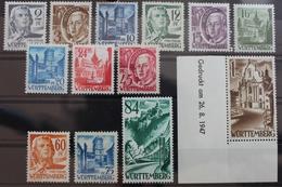 Französische Zone Württemberg 41275 ** Postfrisch Mit 13Br U #RL020 - Französische Zone