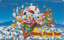 Télécarte Japon / 110-193538 - DISNEY - NOEL - MICKEY CHRISTMAS TRAIN - Japan Phonecard / Limited Edition 5000 EX - Disney
