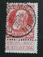 COB N ° 74 Oblitération Grembergen 10 - 1905 Grosse Barbe