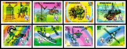 Rwanda, 1977, ITU, World Telecommunication Day, United Nations, Space, MNH Imperforated, Michel 873-880B - Rwanda