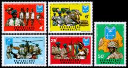 Rwanda, 1973, Human Rights Declaration, United Nations, MNH, Michel 599-603A - Rwanda