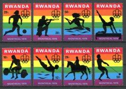 Rwanda, 1976, Olympic Summer Games Montreal, Sports, MNH, Michel 823-830 - Rwanda