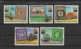 COSTA D'AVORIO   1979 SIR ROWLAND HILL YVERT. 504-508 USATA VF - Costa D'Avorio (1960-...)