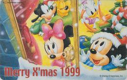 Télécarte Japon / 110-208302 - DISNEY - Série NOEL N° 24/24 - CHRISTMAS - Japan Phonecard / Sucre D'orge - Disney