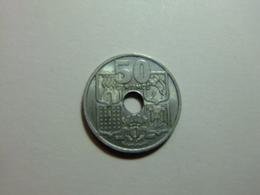 España 50 Céntimos De Peseta 1949 *19 - 51* Flechas Invertidas - [ 5] 1949-… : Reino