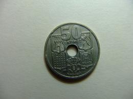 España 50 Céntimos 1949 *19 51* Flechas Invertidas ESTRELLA ROTA 51 - [ 5] 1949-… : Reino