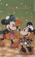 Télécarte Japon / 110-211860 - DISNEY - NOEL - CHRISTMAS - MICKEY & MINNIE - Japan Phonecard - Disney