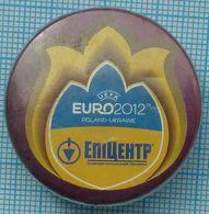 UKRAINE / Badge / POLAND / Football. Europe Championship. UEFA . EURO 2012 . Building Materials Store Epicenter. - Football
