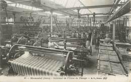 """/ CPA FRANCE 38 """"Morestel, Intérieur De L'usine De Tissage"""" - Morestel"""