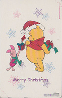 Télécarte NEUVE Japon / 110-211861 - DISNEY - NOEL - OURS WINNIE POOH & COCHON - CHRISTMAS Japan MINT Phonecard - Disney