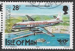 Isle Of Man SG270 1984 Air Anniversaries 28p Good/fine Used [39/32031/25D] - Isle Of Man