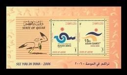 Qatar 2002 Mih. 1211/12 (Bl.41) Sport. Asian Games 2002 In Pusan And 2004 In Doha MNH ** - Qatar