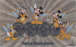 Télécarte Métal ARGENT Japon / 110-208537 - DISNEY - Tokyo DISNEYLAND 2000 - Japan SILVER Phonecard - Disney